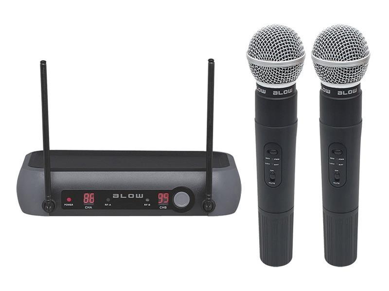 Mikrofon bezdrátový BLOW PRM 902 BLACK