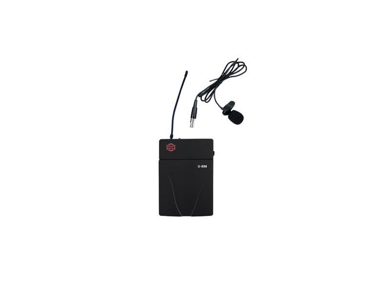 Mikrofon na klopu SHOW LM-10(4B) a bezdrátový kapesní vysílač SHOW U-899P, sada, UHF