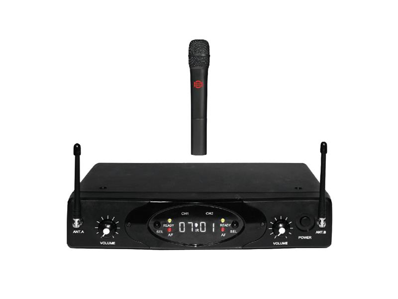 Mikrofon bezdrátový SHOW RUD-802R / 1 x U-899H, dvoukanálová sada, UHF