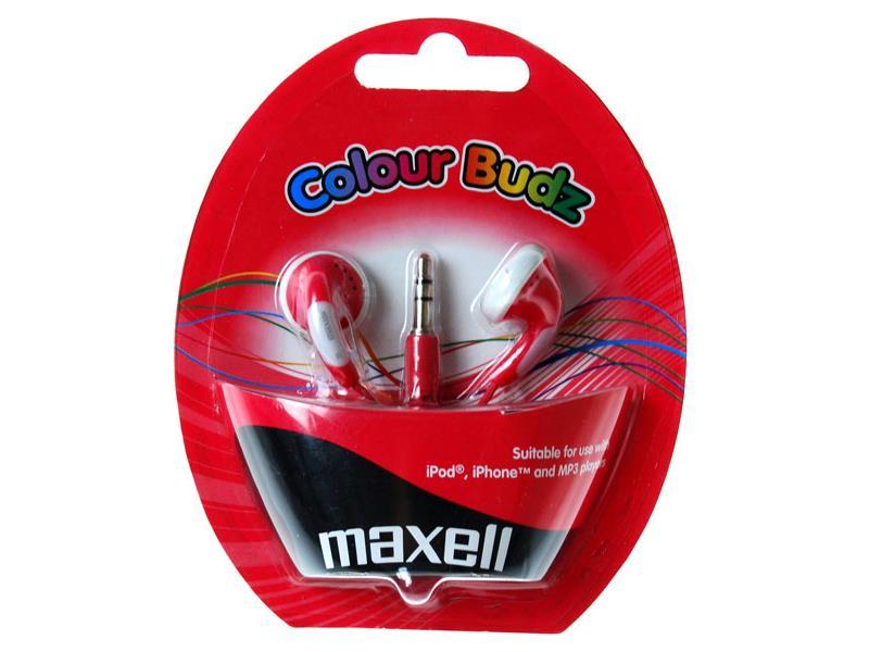 Sluchátka Maxell 303365 Colour Budz Red