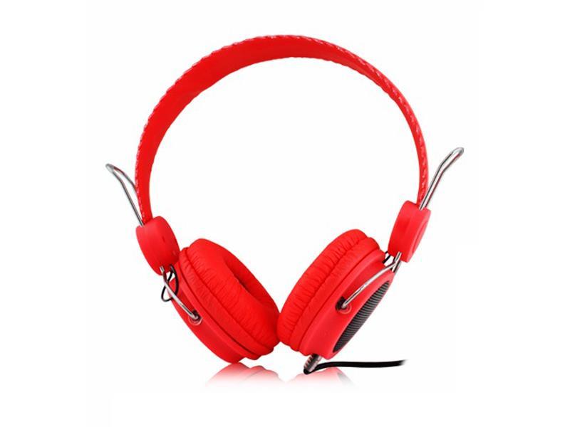 Sluchátka přes hlavu LTC 57 červená