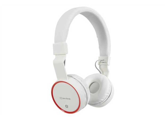 Sluchátka PBH-10,   Bluetooth,  SD, bezdrátová, bílá
