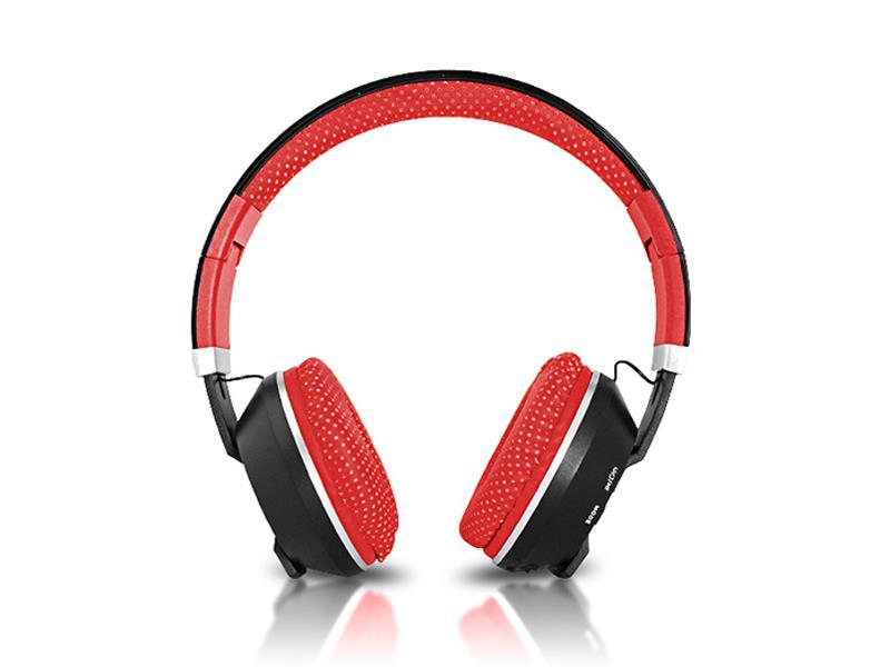 Sluchátka přes hlavu LTC MIZZO BLUETOOTH červená