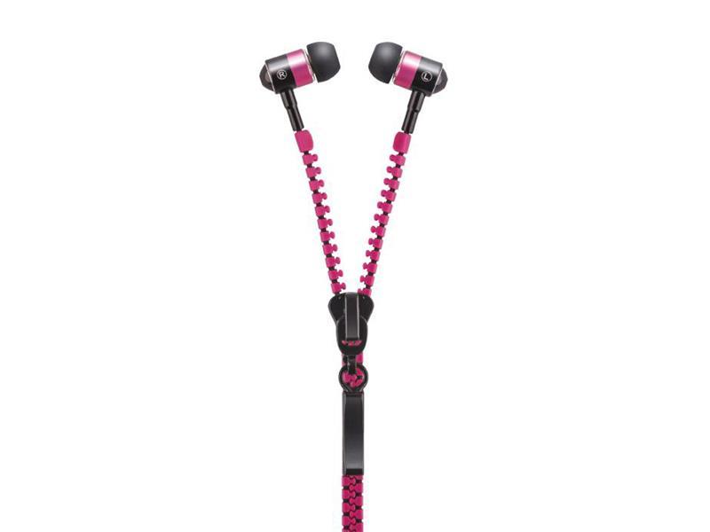 Sluchátka do uší FOREVER ZIP růžová