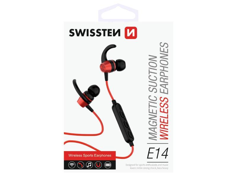 Sluchátka do uší SWISSTEN ACTIVE bluetooth červené