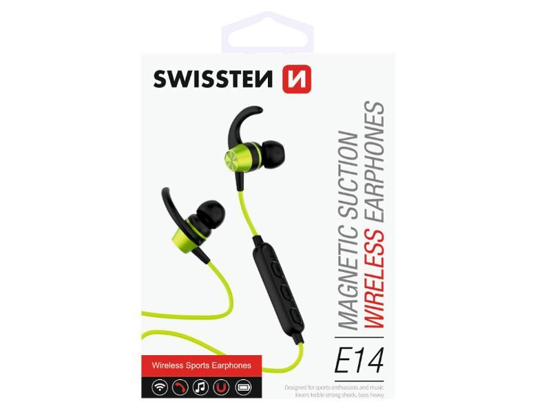 Sluchátka Bluetooth SWISSTEN ACTIVE limetkové