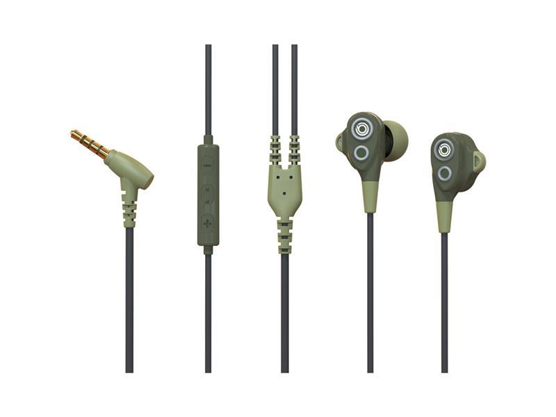 Sluchátka BUXTON REI-MS 102 ARMYGREEN dual speaker