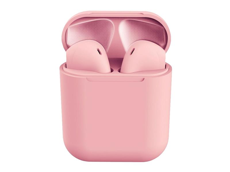 Sluchátka Bluetooth TWS I12 růžové