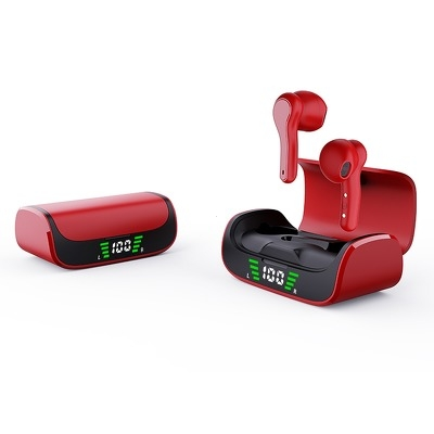 Sluchátka Bluetooth TWS K28 červená