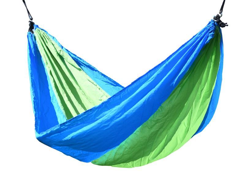 Síť houpací CATTARA NYLON 275x137cm zeleno-modrá