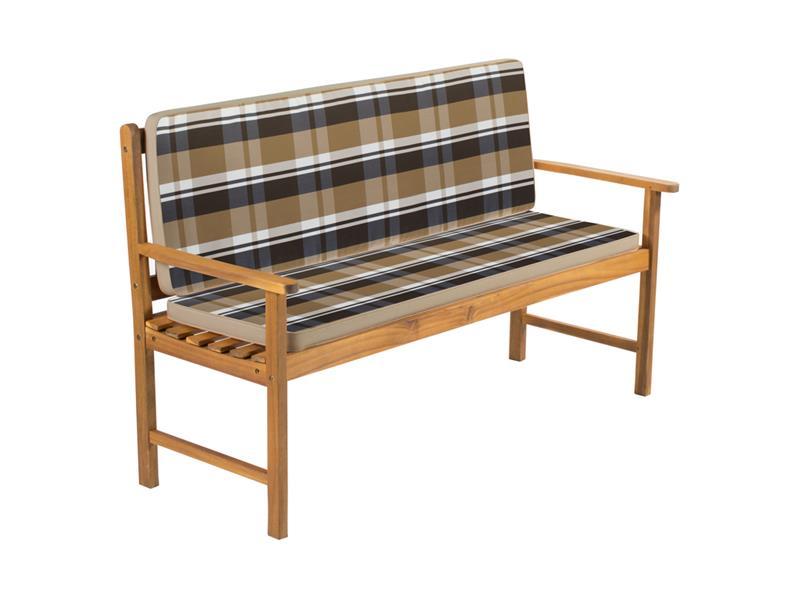Potah na 2 místnou lavici - pruhovaný krémový FIELDMANN FDZN 9121