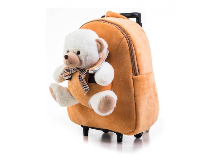 Dětský batoh G21 MEDVÍDEK 2v1 BROWN