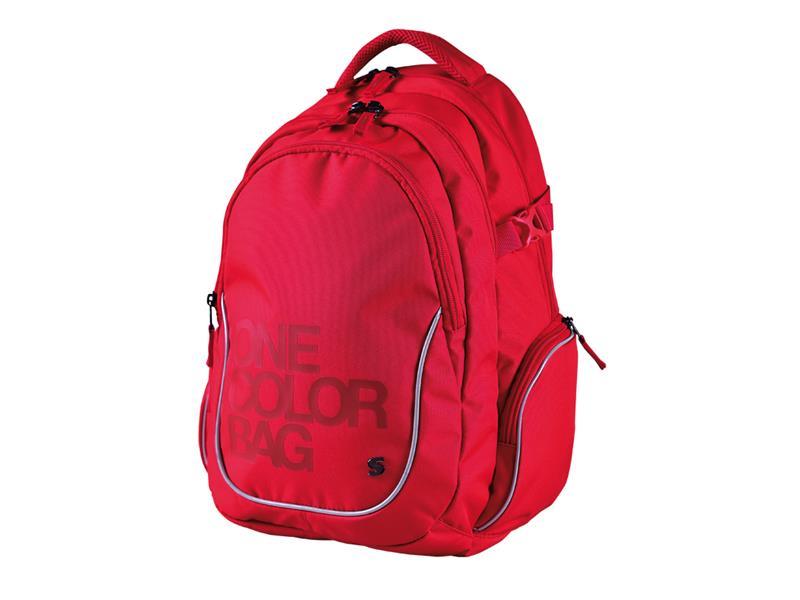 Batoh studentský Stil One Colour červený