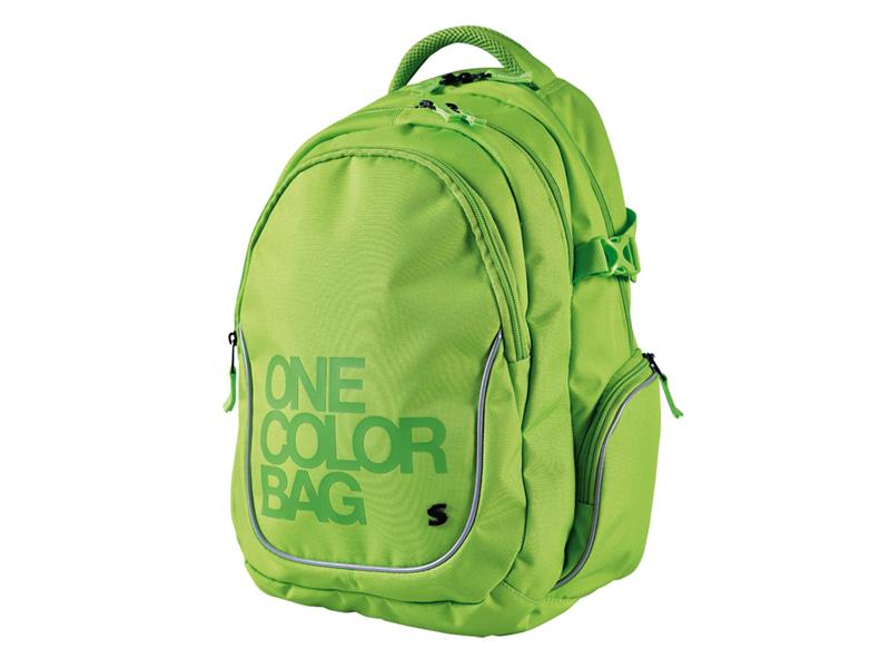 Batoh studentský Stil One Colour zelený