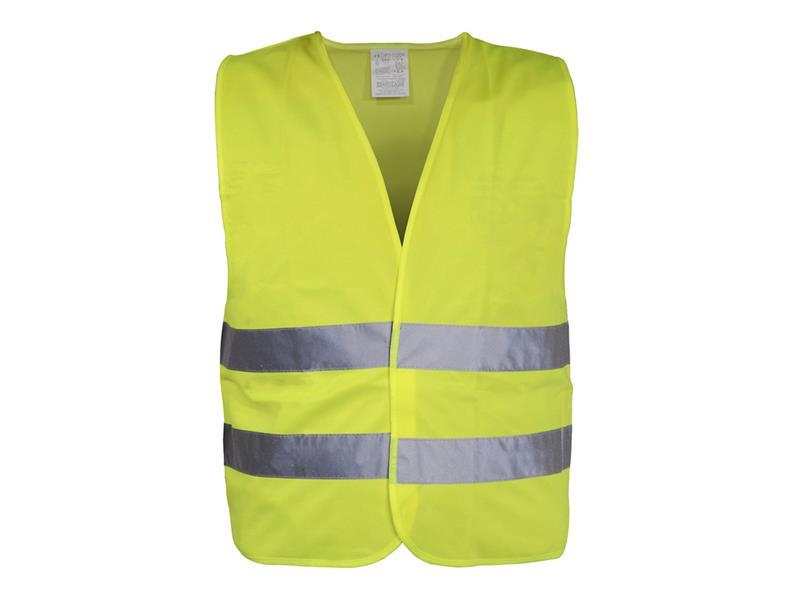 Reflexní vesta výstražná žlutá EN 20471:2013