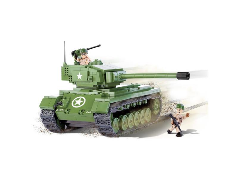 Stavebnice tank II WW M26 Pershing 450 k, 2 f