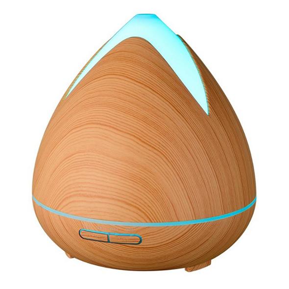 Aroma difuzér 02 světlé dřevo - ultrazvukový, 7 barev LED