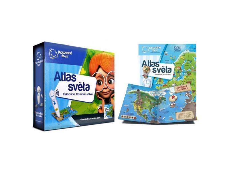 Kniha Albi Elektronická tužka s knihou Atlas Světa