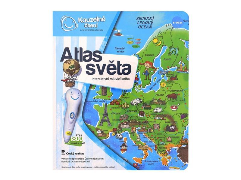 Kniha Albi mluvící kniha Kouzelné čtení Atlas světa
