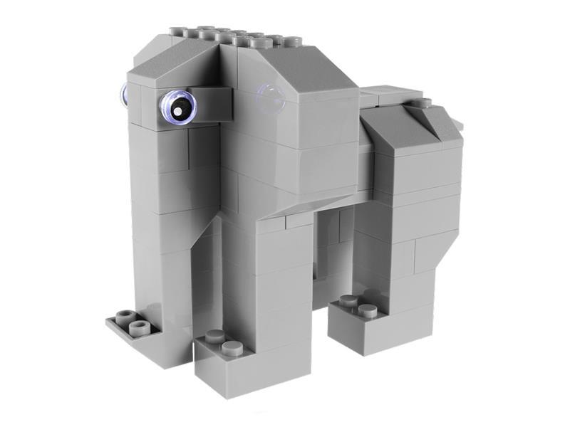 Stavebnice LIGHT STAX HYBRID TRUMPETING ELEPHANT kompatibilní LEGO