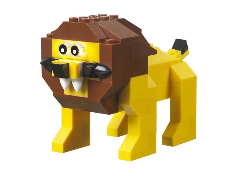Stavebnice LIGHT STAX HYBRID ROARING LION kompatibilní LEGO