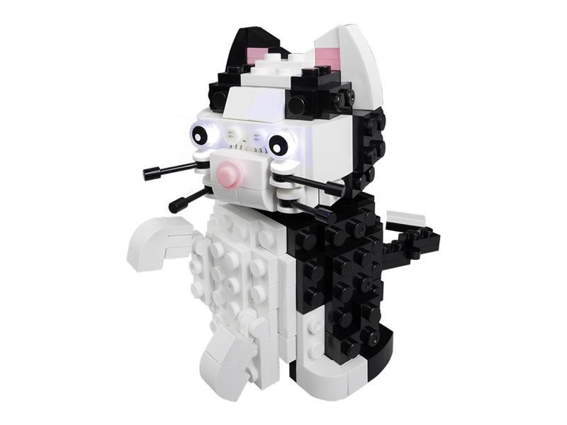Stavebnice LIGHT STAX HYBRID MEOWING CAT kompatibilní LEGO