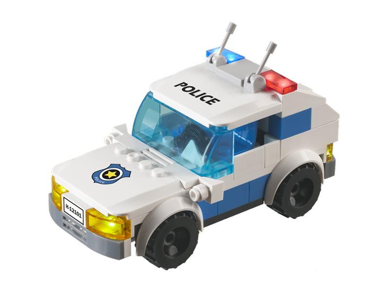 Stavebnice LIGHT STAX HYBRID FLASHING POLICE CAR kompatibilní LEGO