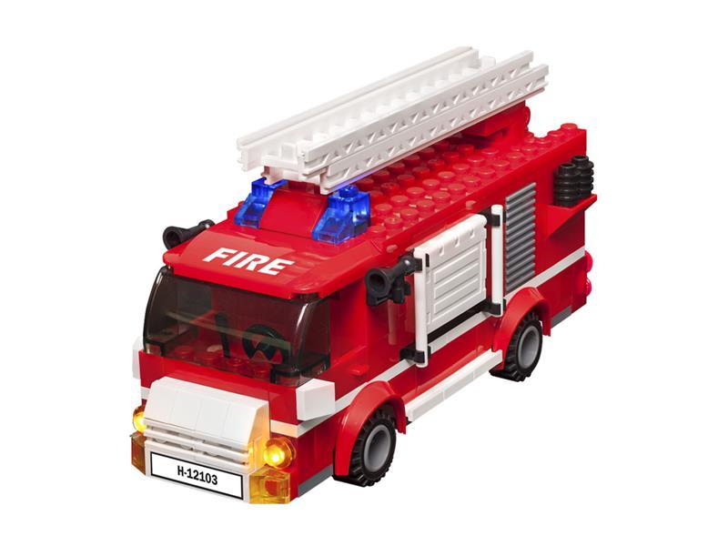 Stavebnice LIGHT STAX HYBRID LIGHT-UP FIRE TRUCK kompatibilní LEGO