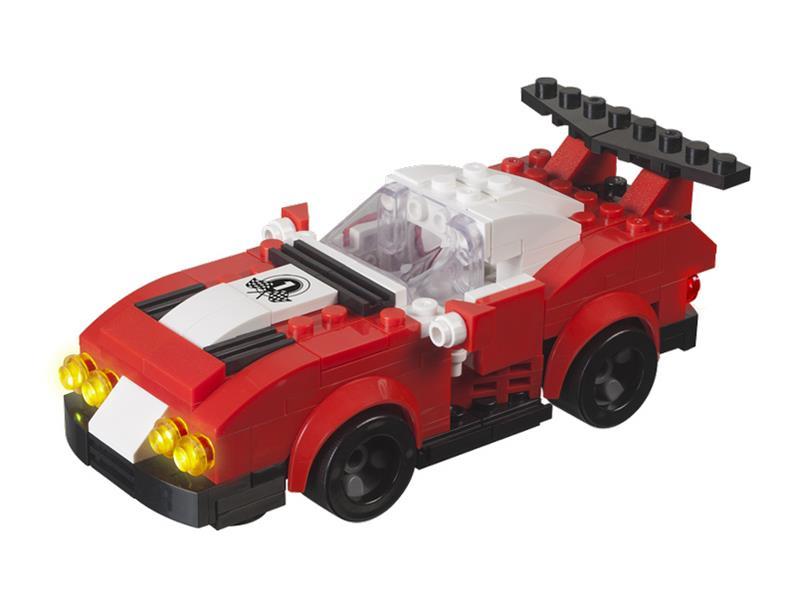 Stavebnice LIGHT STAX HYBRID TUNED RACER kompatibilní LEGO