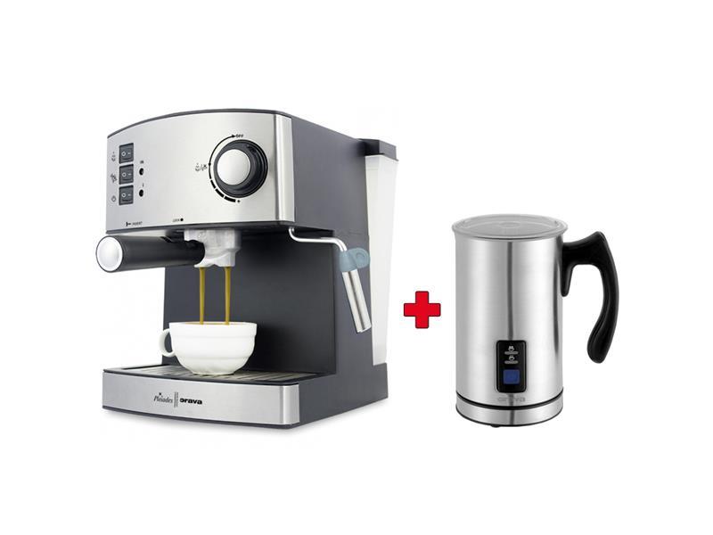 Set Espresso ORAVA ES-150 + Dárek zdarma Napěňovač mléka ORAVA MF-401