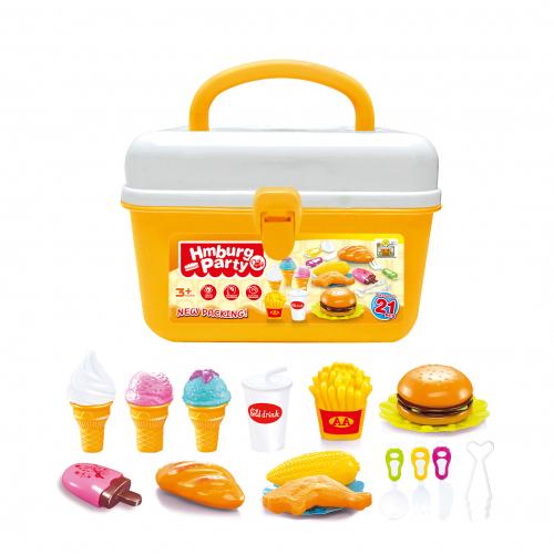 Dětský kufřík s hamburgerem a zmrzlinou G21