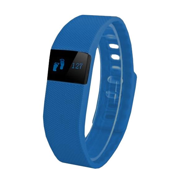 Náramek FT64, OLED, Bluetooth 4.0, Android+iOS tmavě modrá