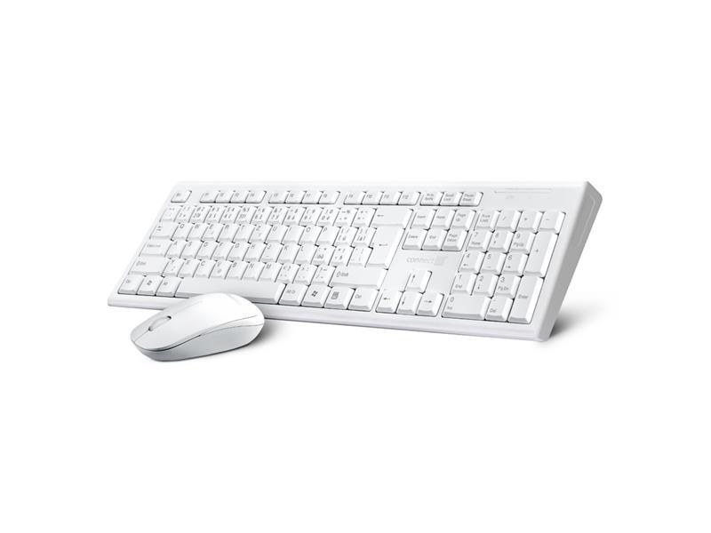 Klávesnice + myš CONNECT IT CI-1118 bezdrátová bílá (+ baterie zdarma), CZ + SK layout
