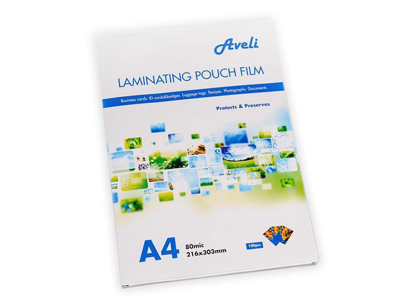 Fólie laminovací AVELI A4 160 mic (2x80) lesklé