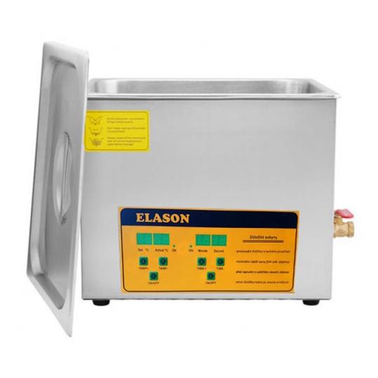 Čistička ultrazvuková ELASON 30L ORANGE digitální