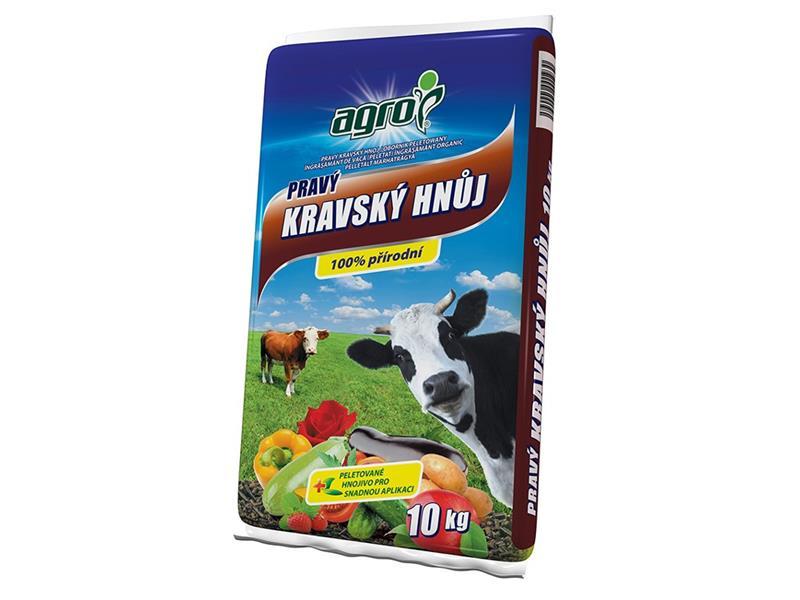 Hnojivo organické AGRO PRAVÝ KRAVSKÝ HNŮJ 10 kg