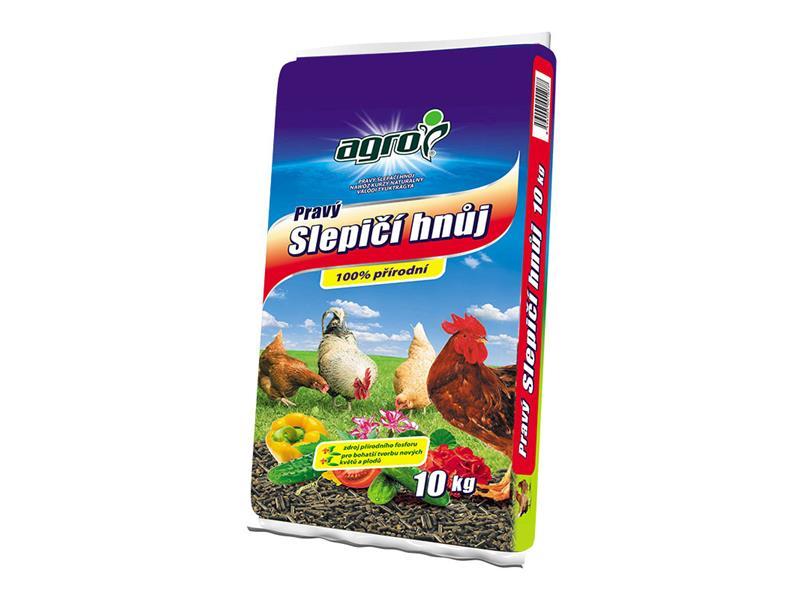 Hnojivo organické AGRO PRAVÝ SLEPIČÍ HNŮJ 10 kg