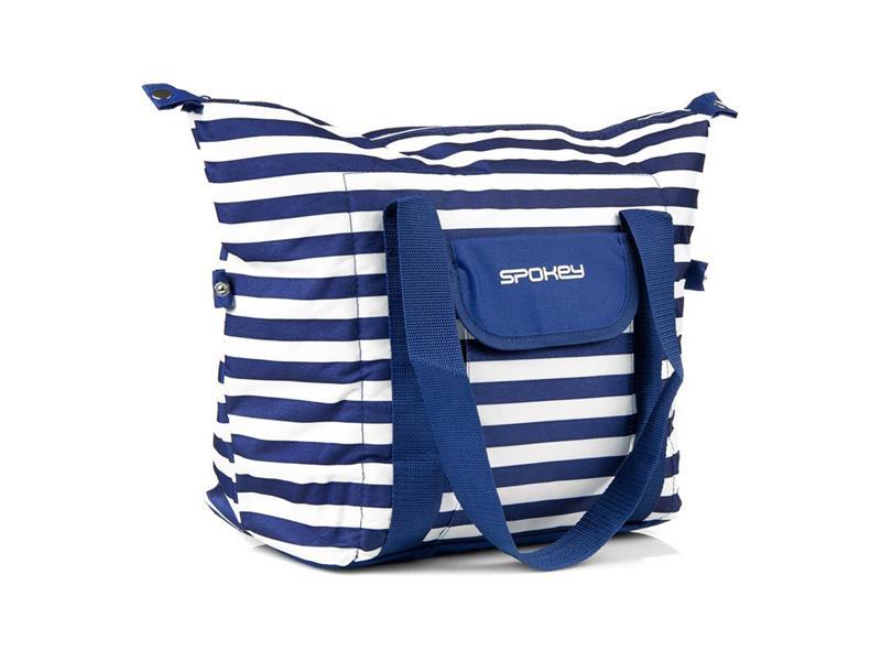 Taška plážová SPOKEY SAN REMO termo, pruhy - námořnícká modrá, 52 x 20 x 40 cm