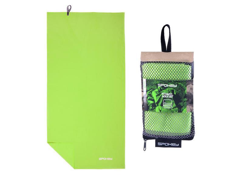Ručník SPOKEY SIROCCO XL rychleschnoucí 85x150 zelený s odnímatelnou sponou