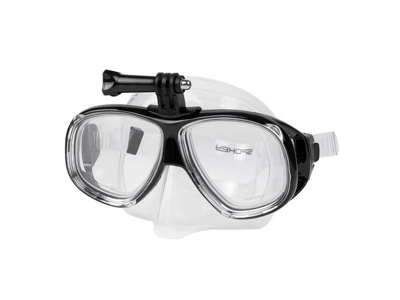 Maska SPOKEY TAMUK CAMERA na plavání s úchytem na kameru