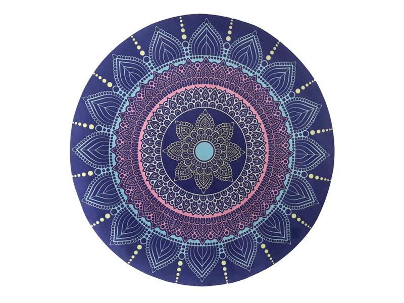 Podložka na jogu kulatá mandala Flower 70cm