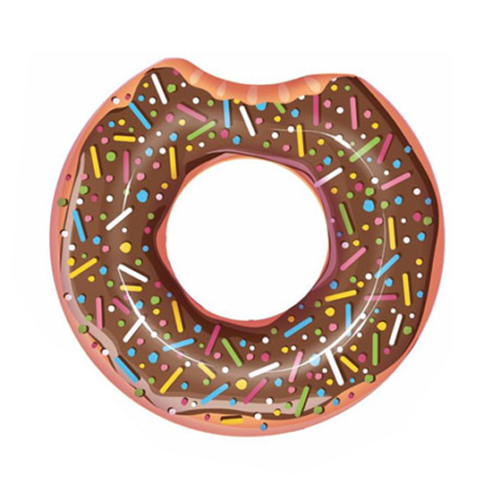 Kruh nafukovací BESTWAY Donut čoko 100cm
