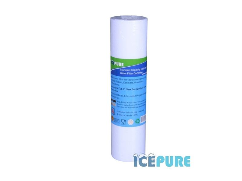 """Filtr na vodovodní řád ICEPURE ICP-PP10-05 sedimentový / aktivní uhlí 10"""" / 5 mikronů"""