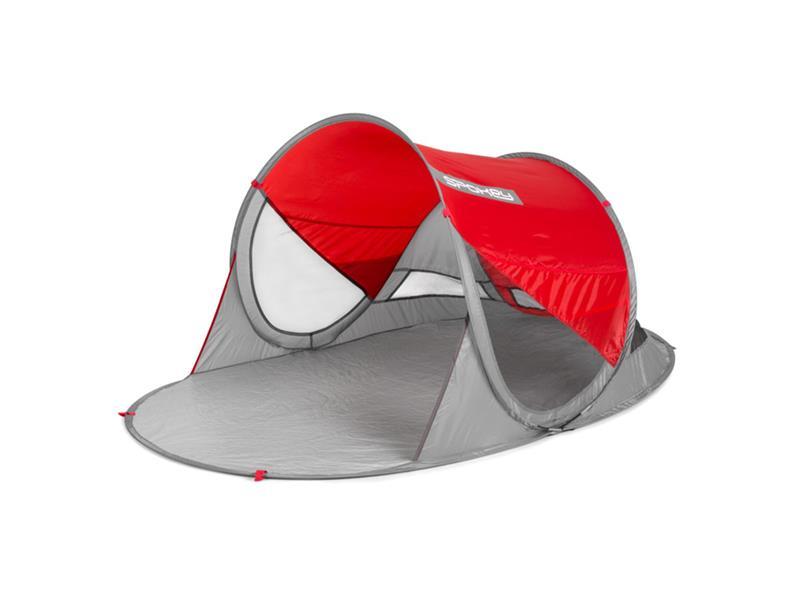 Stan plážový SPOKEY STRATUS ,UV 40, 190x120x90 cm červený