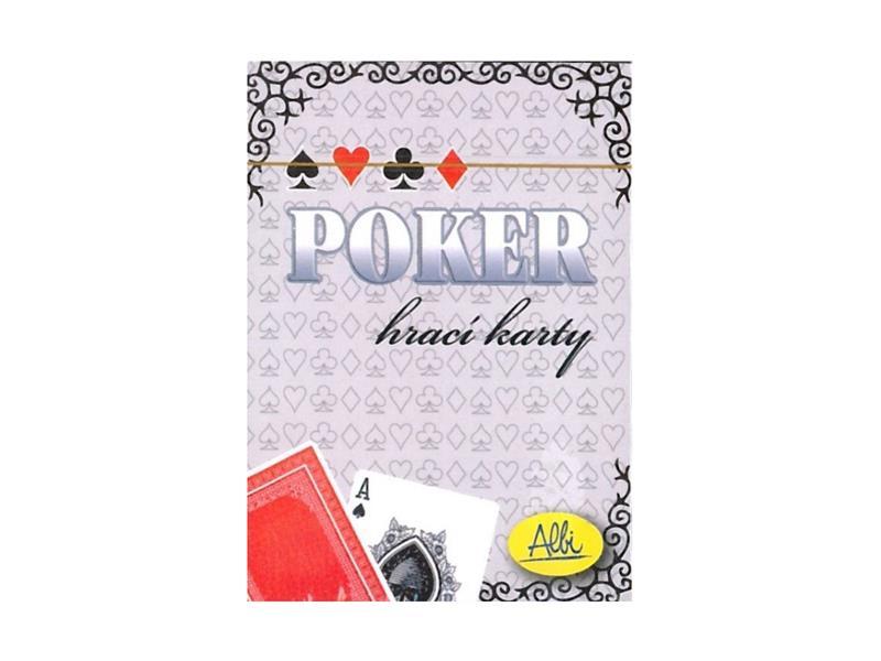 Karetní hra ALBI Poker červené