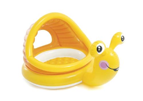 Dětský bazén TEDDIES šnek se stříškou 145x102x74cm