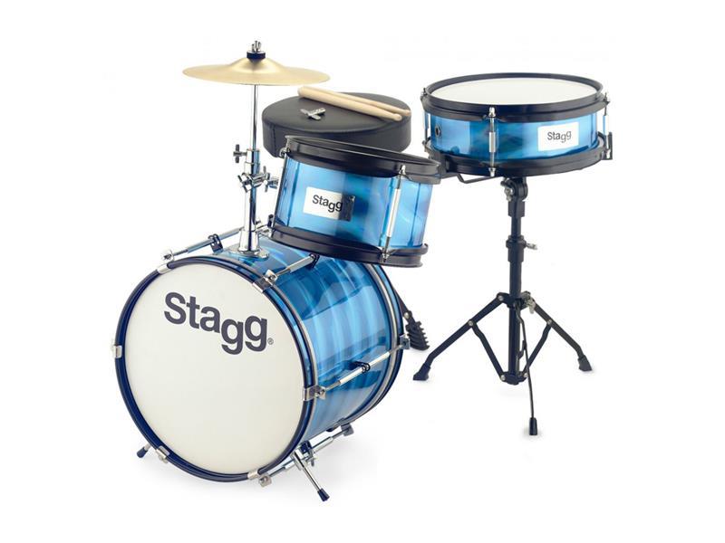 Dětská bicí sada STAGG TIM JR 3/12B BL, modrá