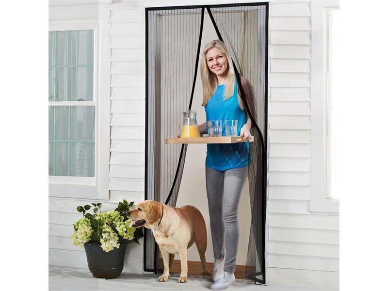 Síť proti hmyzu na dveře 210 x 101cm černá 4L