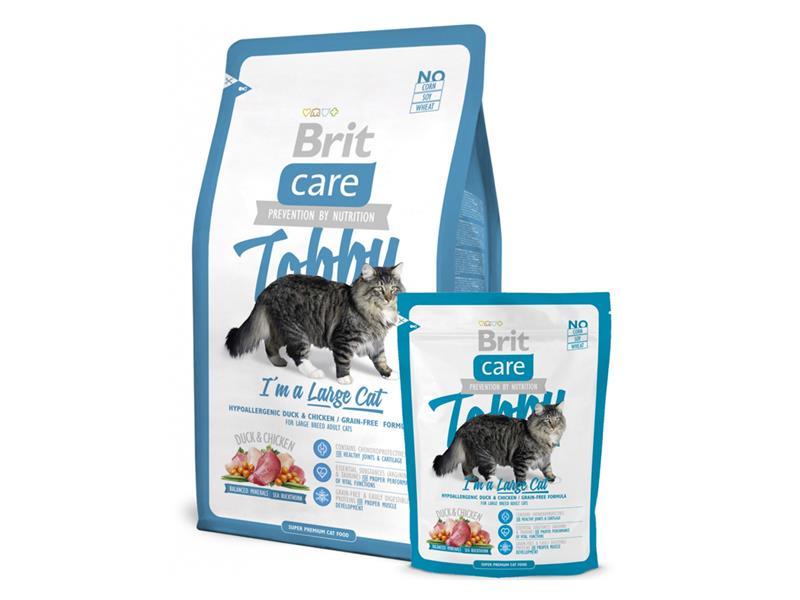 Granule BRIT CARE CAT TOBBY I'M A LARGE CAT 7 kg