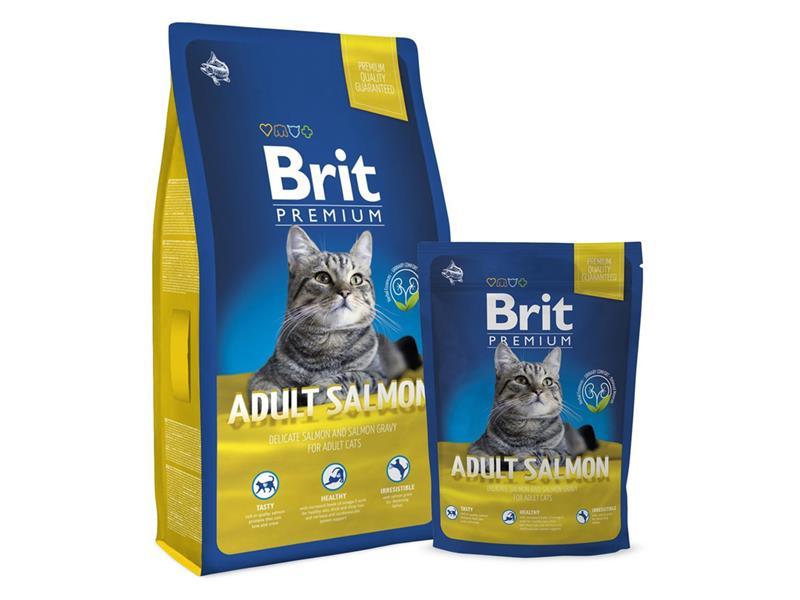 Granule BRIT PREMIUM CAT ADULT SALMON 8 kg